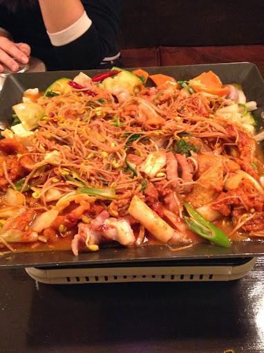 Cooked Octopus and Pork at Moo Kyo Dong Nak Ji