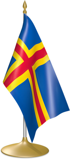 Aland-Island  table flags - desk flags