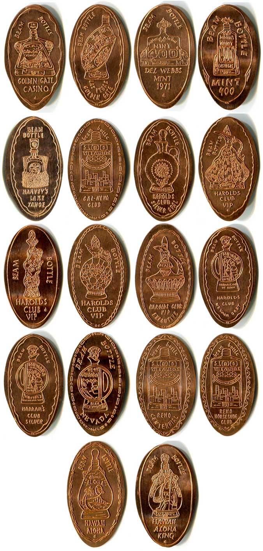 Beam Bottle - Elongated Coin - Hawaii, Nevada & S  Korea