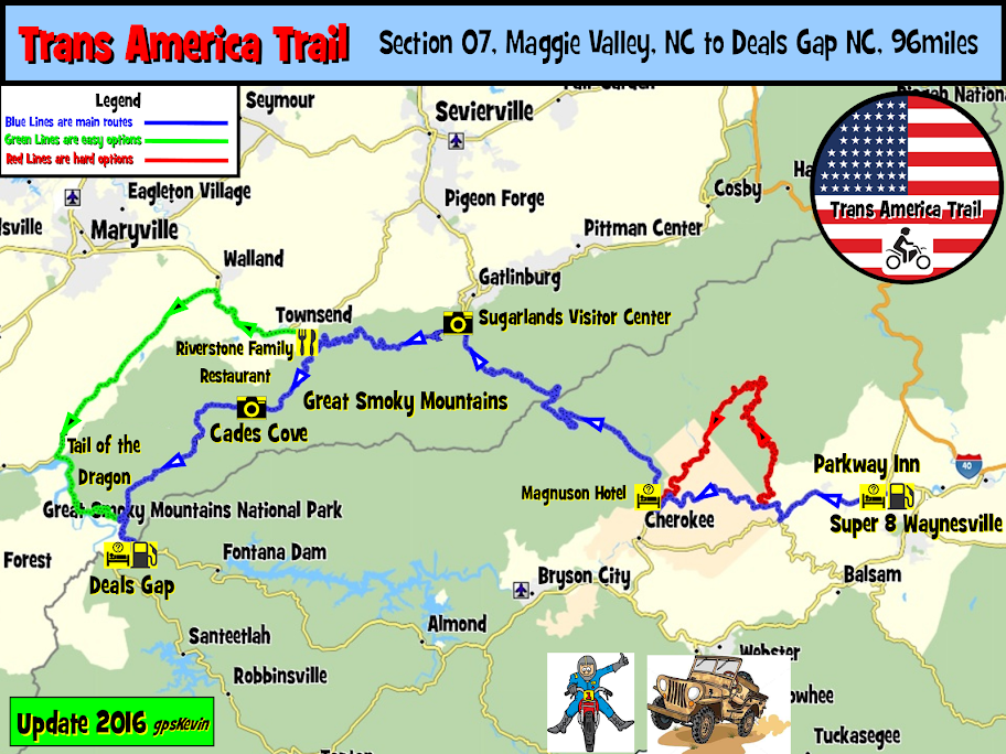 Maggie Valley Nc Map TAT Section 07 Maggie Valley NC to Deals Gap NC   gpsKevin