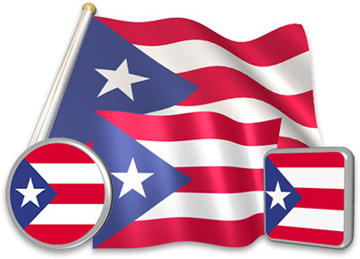 Puerto Rican flag animated gif collection