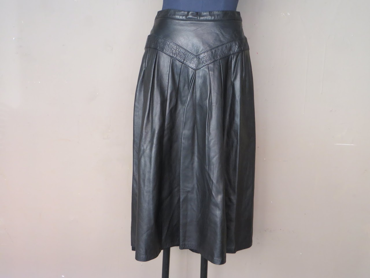 Rajac Vintage Leather Skirt