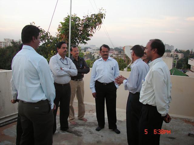 Demonstration of Amateur Radio Satellite communication to Mr Annadurai and Mr Raghavamurthy - DSC00133.JPG