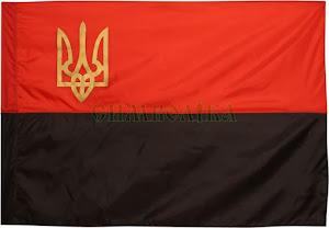 Прапор УПА з нейлону з тризубом П6тУПА (90*135см)