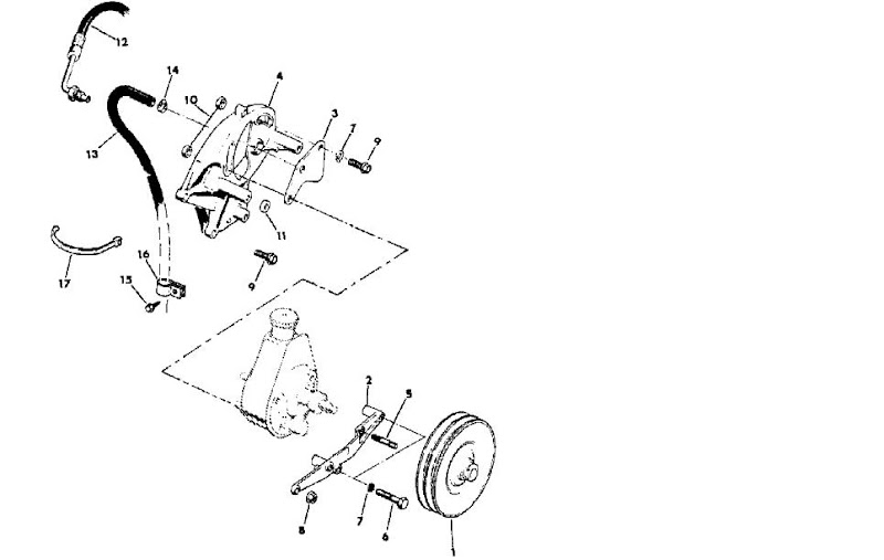 Power Steering Pump Bracket 304 A 22119 on Jeep Cj7 Wiring Diagram