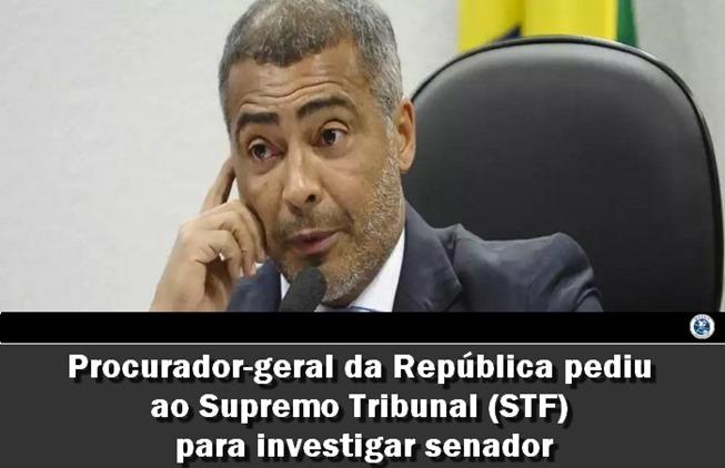 Procurador-geral da República pediu ao Supremo Tribunal STF para investigar senador