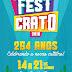 FestCrato: Comemorações alusivas aos 254 anos do município iniciam hoje