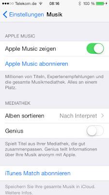 iPhone Einstellungen Apple Music