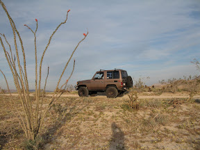 The BJ70 Toyota LandCruiser looks very comfortable out in the Anza Borrego Desert