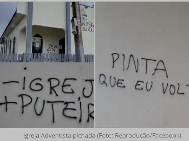 Igreja é vandalizada com símbolos nazistas no Pará