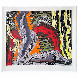 Gregory Amenoff 'Chamber' Signed Large Woodblock Print