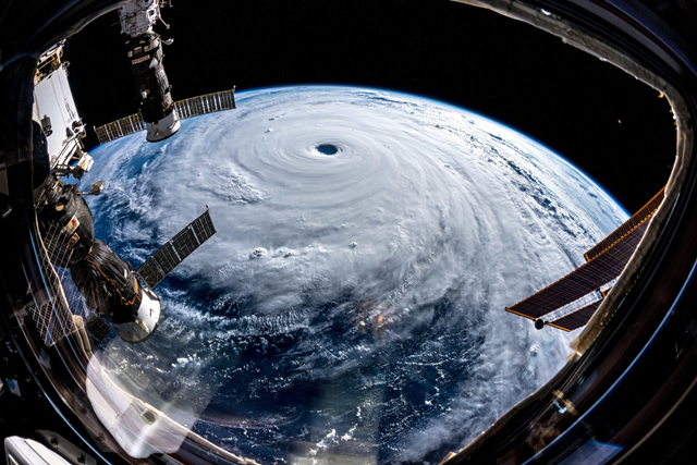 Super Typhoon Trami viewed from the International Space Station, 25 September 2018. Photo: Alexander Gerst