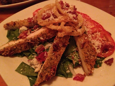 Pecan-crusted chicken at Carinos