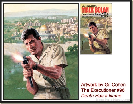 Executioner #96, art by Gil Cohen - MensPulpMags.com