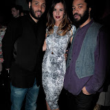 WWW.ENTSIMAGES.COM -  David, Charlie Webster and Alberto   at    Fundraising Soiree at 17 Harrington Rd London May 9th 2013 raising money for Women's Aid                                                   Photo Mobis Photos/OIC 0203 174 1069