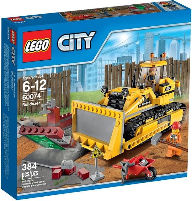 Đồ chơi xếp hình Lego City 60074 Xe Ủi Công trường Bulldozer