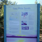 Information sign at Two Mile Sands Beach