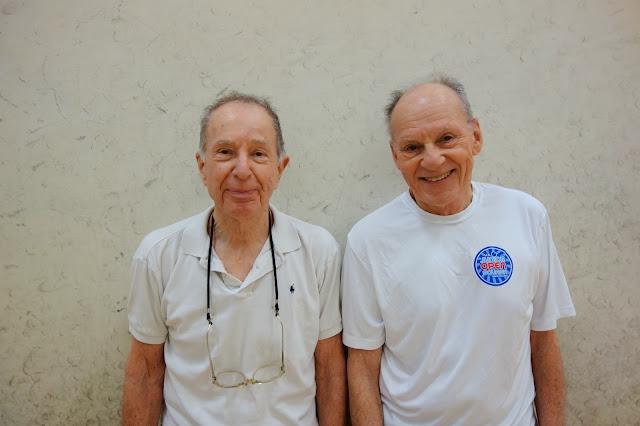 Men 80+ Singles: Phil Leis, Winner, Lee Engler, Finalist