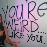 you're weird... I like you! at Club NYX in Amsterdam, Noord Holland, Netherlands