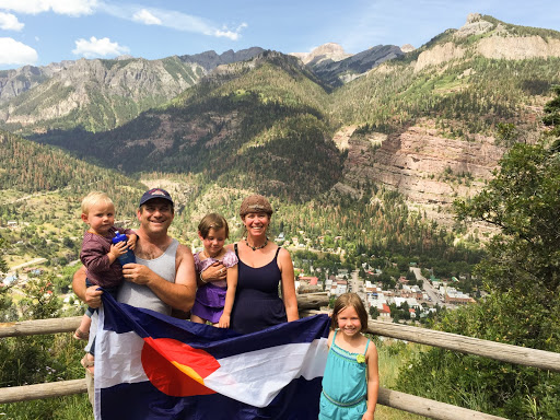 Josh and Sutay Berman and daughters in Colorado. From Crocodile Love: Unusual People Who Made Remarkable Trips