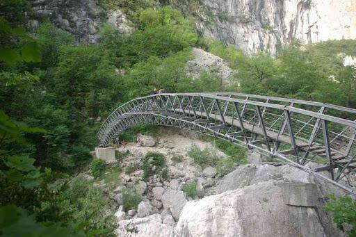 La passerelle de l'Estellier dans les gorges du Verdon