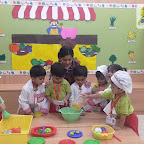 Healthy Bhel Day Celebrated by Playgroup Afternoon Section at Witty World, Chikoowadi(2018-19)