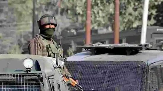 Indian Army soldier in Patrol In Jammu & Kashmir