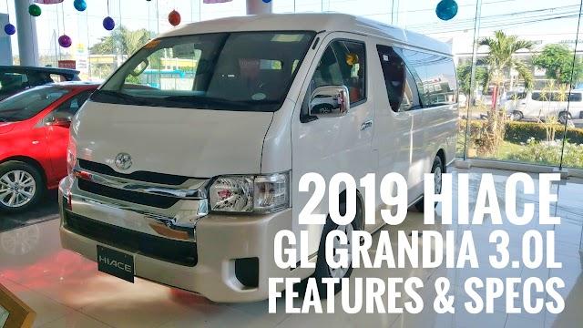 2019 Hiace GL Grandia 3.0L Features & Specs