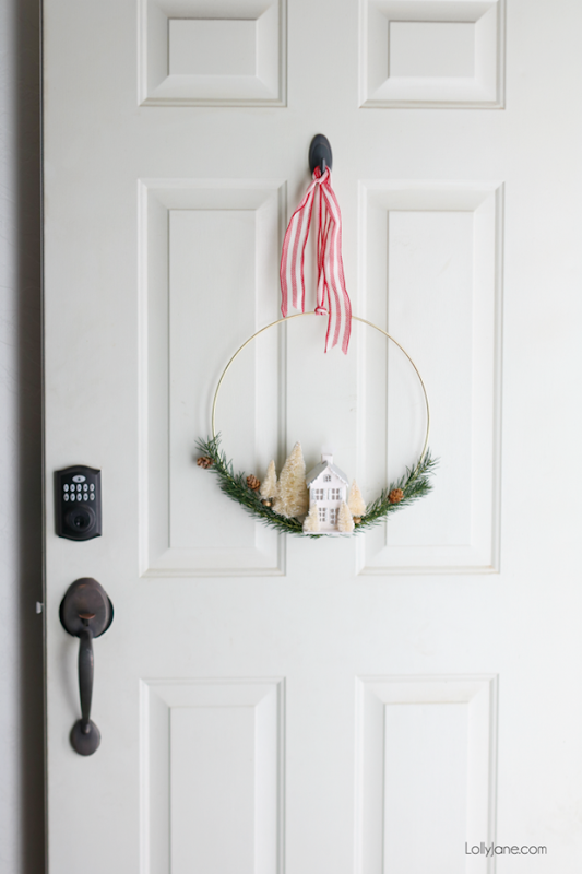 DIY-Christmas-Door-Wreath-Gold-Hoop-670x1005