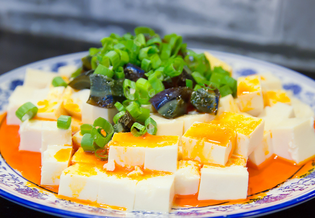 photo of a Tofu with preserved egg