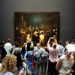 the Nachtwacht (Nightwatch) painting at Rijksmuseum Amsterdam in Amsterdam, Noord Holland, Netherlands