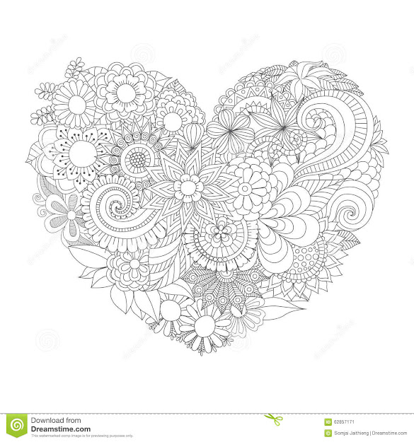 Coloring Book Hearts Auromas