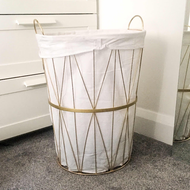 lifestyle-blog-dunelm-deco-charm-gold-wire-laundry-basket-homeware-haul