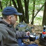 Am nächsten Morgen zum Frühstück Haferflocken mit Milch und Rosinen.