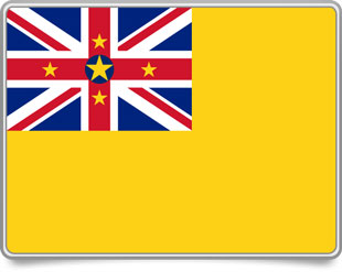 Niuean framed flag icons with box shadow