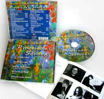 Diseño y maquetación del cd 'Pinceladas Sonoras' de Mariangeles Sánchez Benimeli