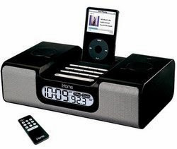 New! Secureshot Ipod Docking Station Clock Radio Camera with Built in Black N White Camera and DVR