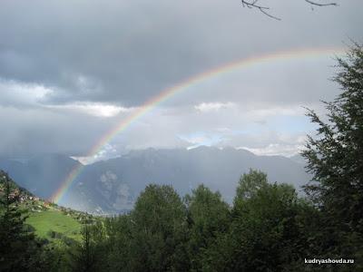 Радуга в Швейцарии