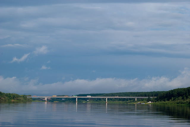 Автомобильный мост через реку Вятку у Советска