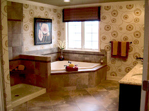 Photo: The master bathroom in our STUYVESANT model townhome at Greyledge Estates in Albany, NY