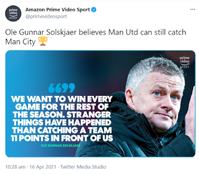 Ole Amazon Tweet