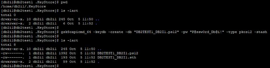 Create Local KeyStore using gsk8capicmd_64