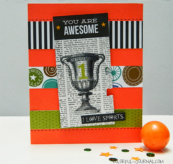 boy card bella blvd makingh a team sports champion number one green black orange challenge pretty pink posh 10 minute card