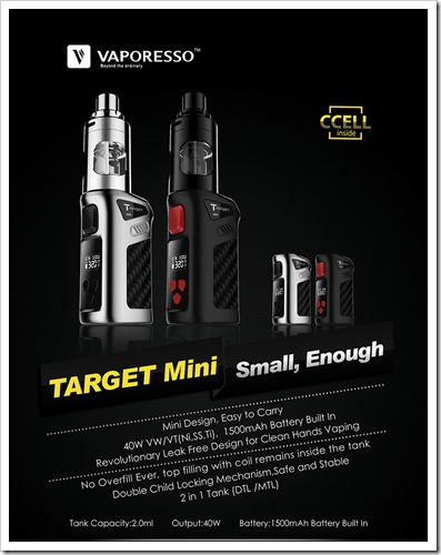vaporesso target mini thumb%25255B2%25255D - 【MOD】超小型バッテリー内蔵スターターVaporesso Target mini kit【iStick Pico、Nugget TC、Mini Volt対抗】