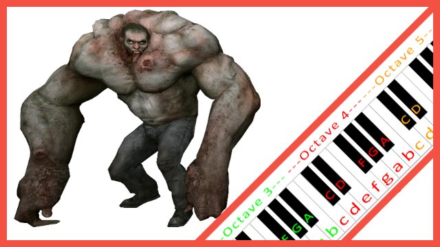 Tank Theme (Left 4 Dead) ~ Piano Letter Notes