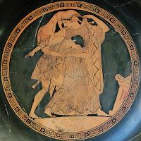 Βασιλιάς της Φθίας ο Πηλέας, παλεύει με Θέτις,λεοντάρι,φίδια,King of Fthia Peleus fought with Thetis,lion,snakes
