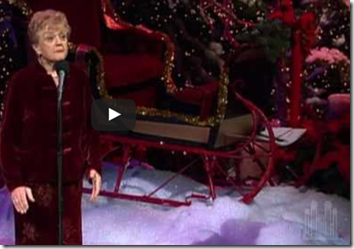 """We Need a Little Christmas"" - Angela Lansbury and the choir."