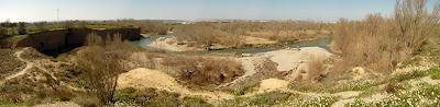 Peña del Cuervo, río Gállego. Montañana, Peñaflor, Barrio del Comercio