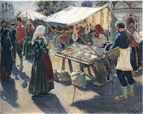 Базар с баранками, 1910