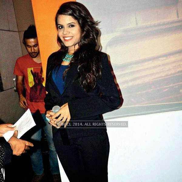 Priyanka Bhalla during the launch event of SS Group's Omnia hosted at a hotel in Gurgaon.